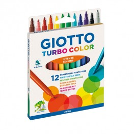 ФЛУМАСТЕРИ GIOTTO TURBO COLOR 12 ЦВЯТА