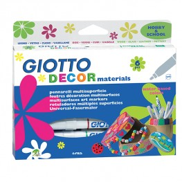 ФЛУМАСТЕРИ GIOTTO DECOR MATERIALS 6 ЦВЯТА