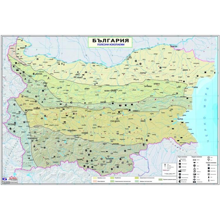 Karta Na Blgariya Polezni Izkopaemi