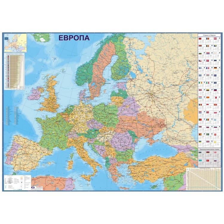 Evropa Politicheski Karta