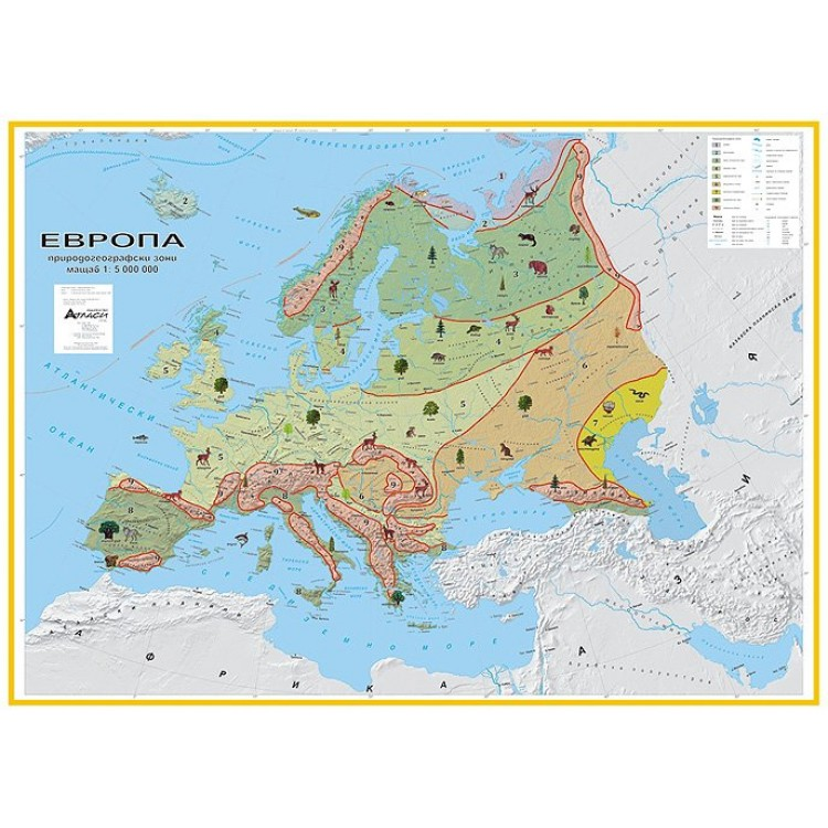 Karta Na Evropa Prirodogeografski Zoni