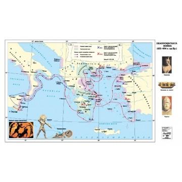КАРТА ПЕЛОПОНЕСКАТА ВОЙНА (431-404 Г. ПР. ХР.)